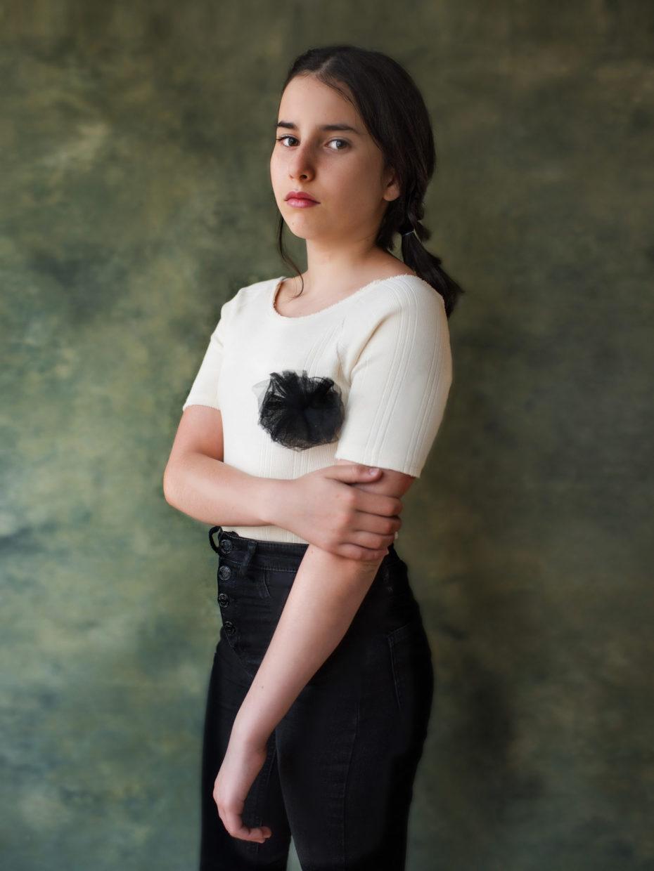 portrait artistique jeune fille