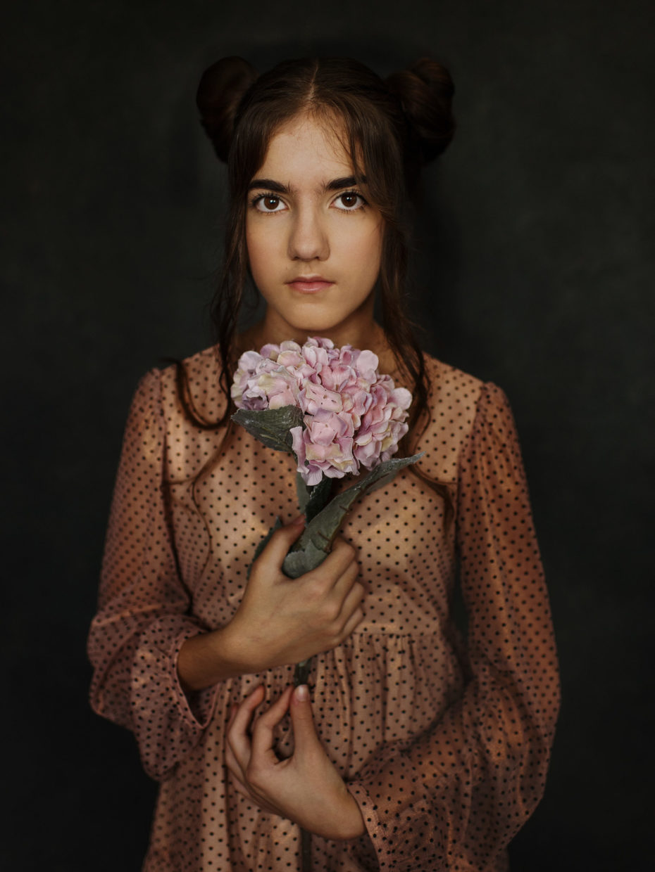 portrait de grande fille style fine-art
